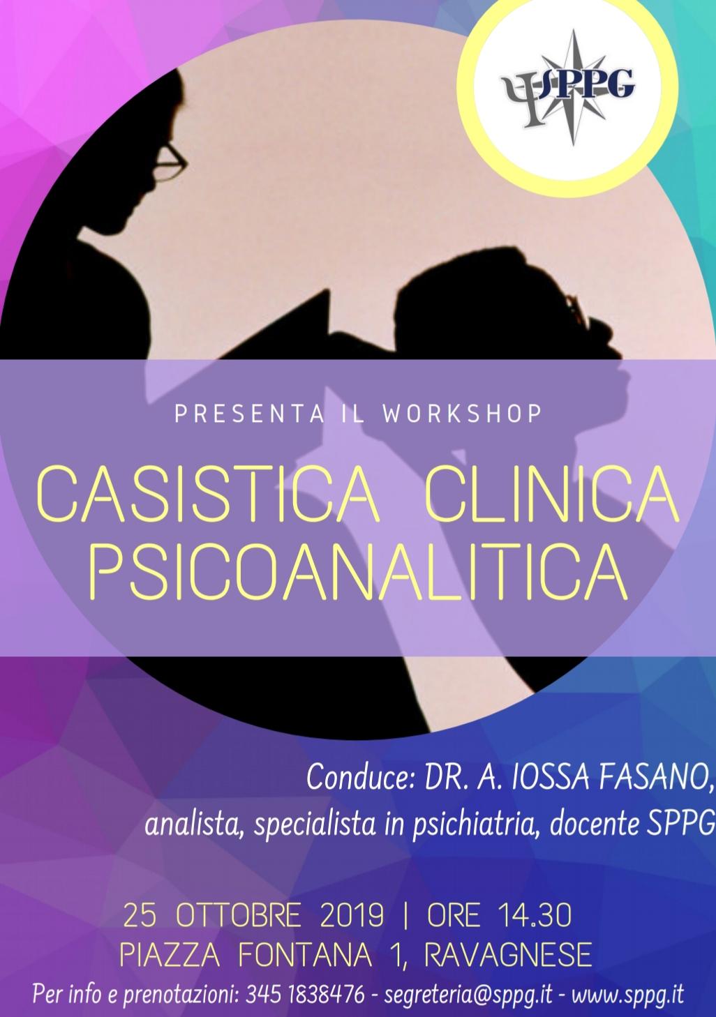 "Workshop ""Casistica Clinica Psicoanalitica"""