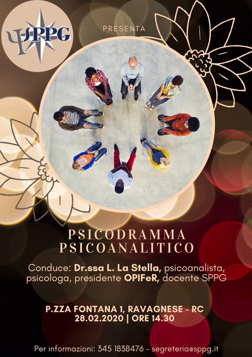 """Workshop """"Lo Psicodramma psicoanalitico"""""""