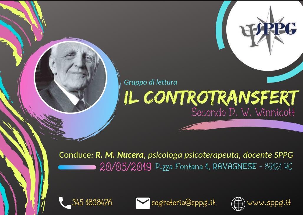"""Gruppo di Lettura """"Il Controtransfert"""" secondo D.Winnicott"""