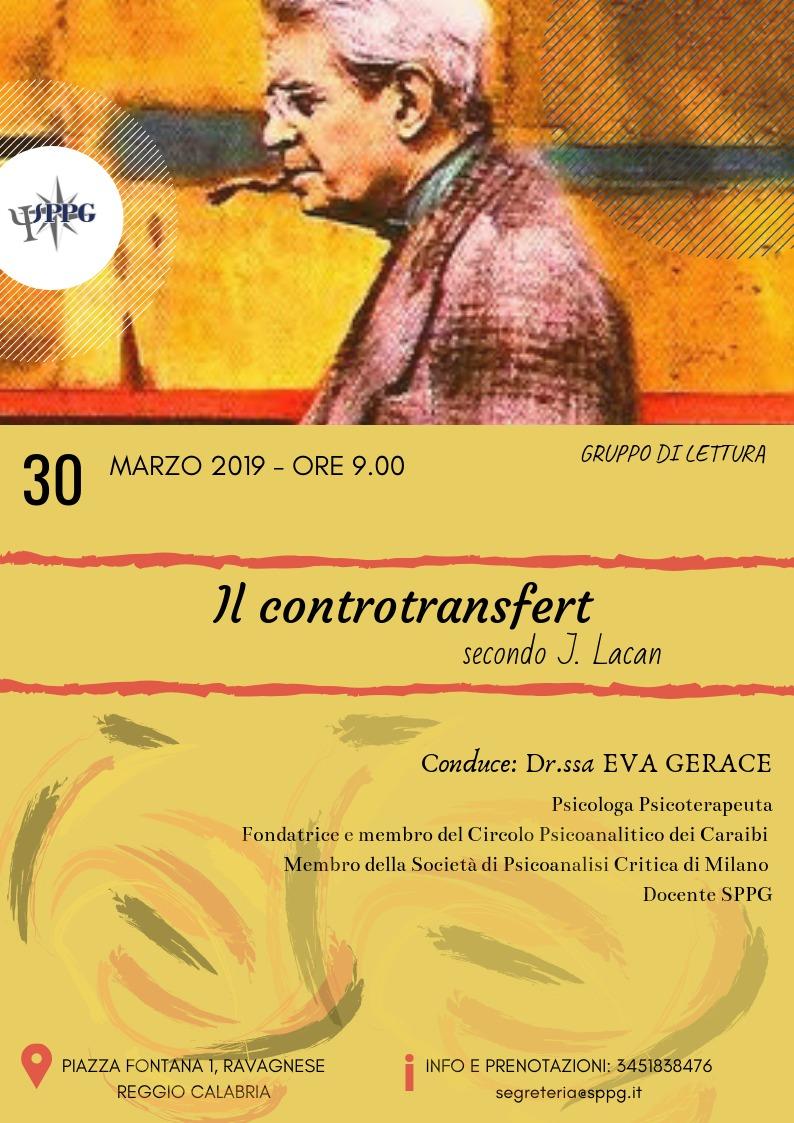 """Gruppo di Lettura """"Il Controtransfert"""" secondo J. Lacan"""